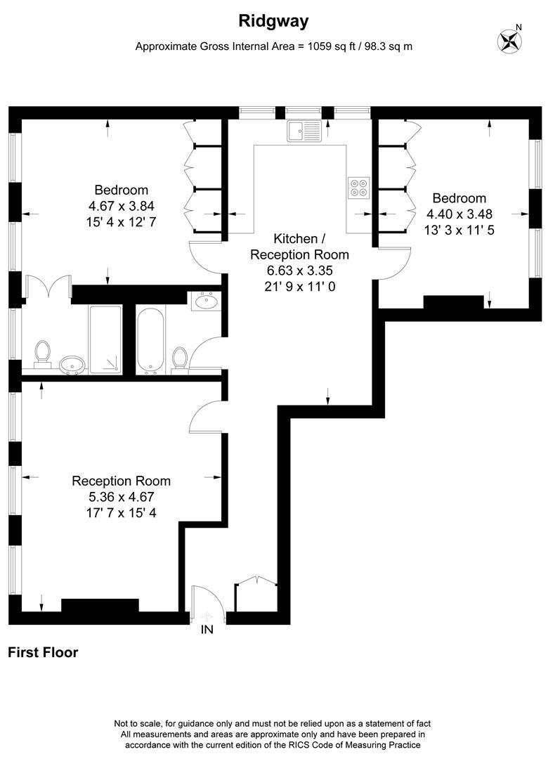 Floorplan for Ridgway, London